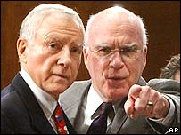 Senators Orrin Hatch (left) and Patrick Leahy