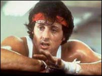 Rock as played by Sylvester Stallone