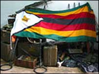 Weapons reportedly belonging to a new armed group, the Zimbabwe Freedom Movement
