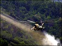 Mi-24 attack helicopter (archive image from Macedonia, 2001)