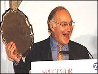 Michael Howard with his award