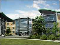 A computer-generated image of what the Longbridge business park would look like