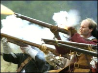 Civil war re-enacted by the Sealed Knot.
