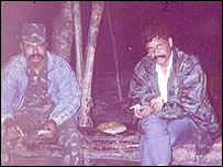 Ulfa's Paresh Barua (right) 