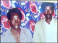Rebel leaders Joseph Kony (l) and Vincent Otti (r)