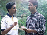 Suhas Gopinath [left] with a colleague