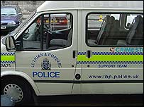 Lothian and Borders Police van