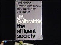 "A copy of JK Galbraith's ""The Affluent Society"""