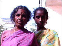 Rama (r) and her mother-in-law