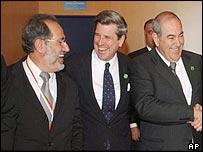 Moafac Rubaie (L) Paul Bremer (C) Iyad Allawi (R)