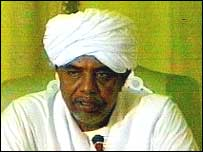 President Bashir on Sudanese TV in November 2003