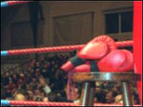 Rincón en un ring
