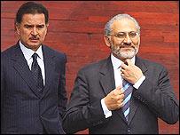 Alfonso Portillo, presidente de Guatemala, y su par de Bolivia, Carlos Mesa