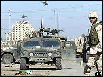 US troops near scene of Black Hawk crashes