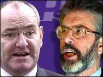 Mark Durkan and Gerry Adams