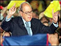 Jordi Pujol, presidente del gobierno auton�mico de Catalu�a