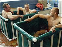 England players recovering on Monday