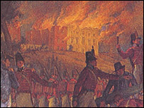 The burning of the Capitol - mural by Allyn Cox.