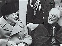 Churchill and Roosevelt at Yalta