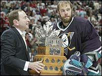 Jean-Sebastien Giguere won the Conn-Smyth Trophy as play-offs MVP