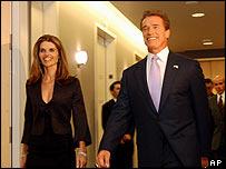 Arnold Schwarzenegger with his wife Maria Shriver