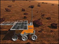 Artist's view of the ExoMars Rover (Image: European Space Agency)