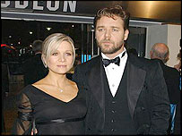 Russell Crowe with wife Danielle Spencer