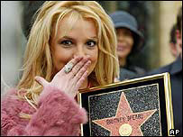 Britney Spears on Hollywood Walk of Fame