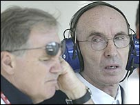 Williams technical director Patrick Head and team owner Frank Williams