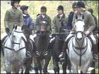 hunt members in north Wales