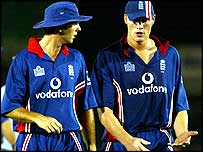 Michael Vaughan and Andrew Flintoff