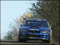 Petter Solberg on his way to winninng the Rally GB and the world title