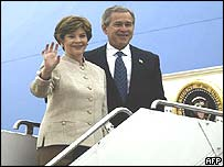 President Bush and his wife Laura