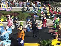 Mickey Mouse statue unveiling
