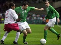 Andy Reid set up Ireland's second goal for Robbie Keane