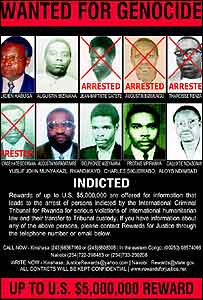 US Wanted poster for Rwandan genocide suspects