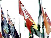 Flags of some Commonwealth nations