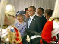 Queen and Mr Bush