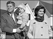 Kennedy with his wife Jackie and daughter Caroline