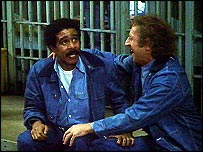 With Gene Wilder in Stir Crazy, 1980