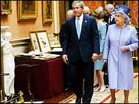 President Bush with the Queen