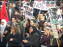 Anti-war protestors