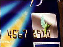 The Benton Hologram is on credit cards