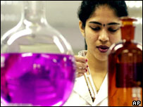 Scientist working at Cipla, generic antiretroviral drugs company, India