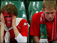 Wales fans were left in despair after the Russian defeat