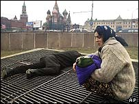 Beggars near Red Square