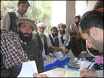 Voter registration in Jalalabad