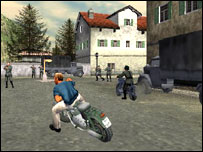 Screenshot from The Great Escape computer game