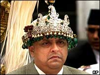 King Gyanendra at his enthronement in 2001