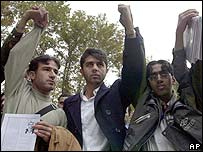 Students protest in Tehran